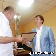 В Димитрове мэр Руслан Требушкин наградил предпринимтелей